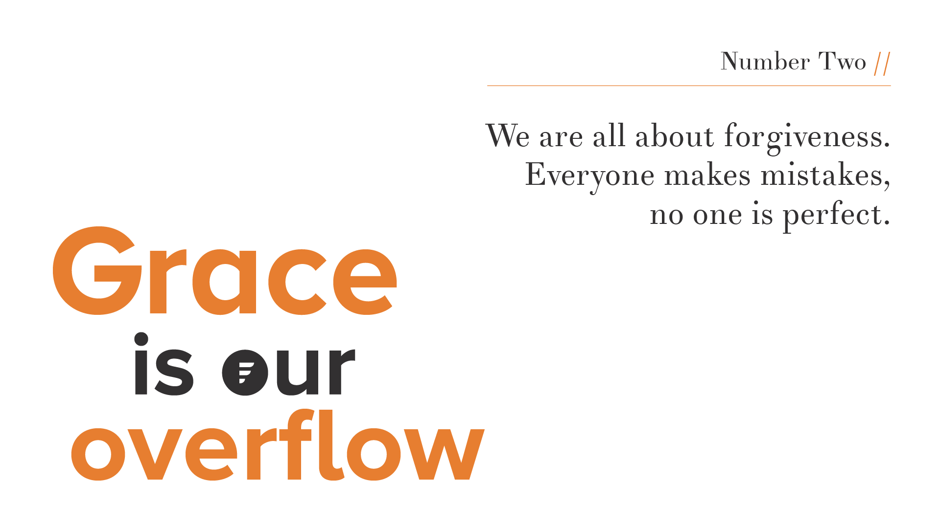 Values // Grace is Our Overflow